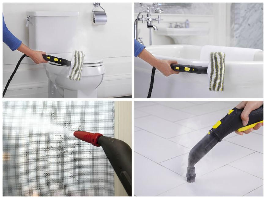 Уборка в ванной - и здесь придет на помощь пароочиститель