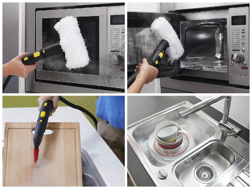 Пароочиститель поможет очистить множество поверхностей