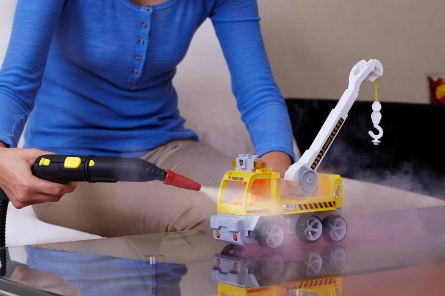Пароочистителем можно дезинфицировать детские игрушки